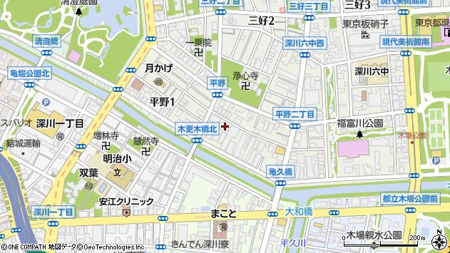 東京都江東区平野2丁目2-9周辺の地図