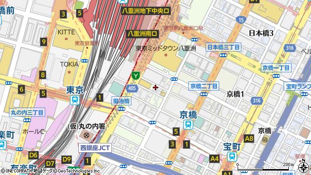 東京都中央区八重洲2丁目周辺の地図