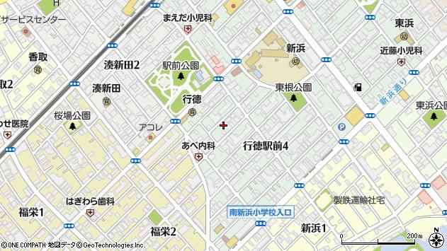 千葉県市川市行徳駅前4丁目周辺の地図