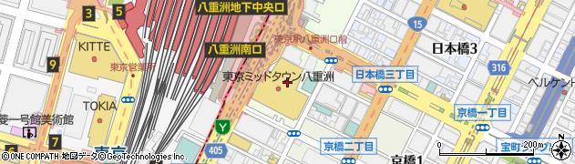 東京都中央区八重洲2丁目2周辺の地図