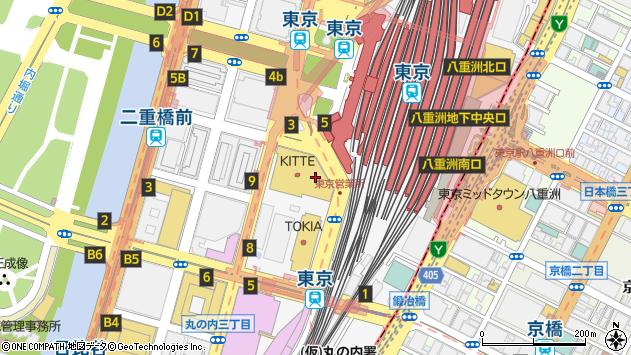 東京都千代田区丸の内周辺の地図