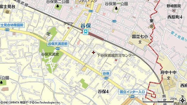 東京都国立市谷保周辺の地図