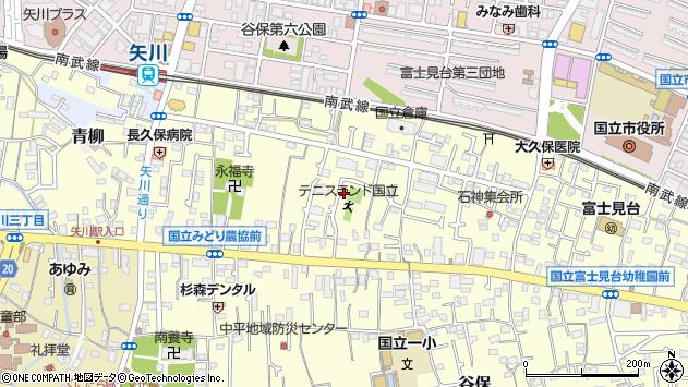 東京都国立市谷保7074周辺の地図