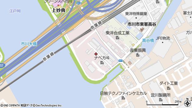 千葉県市川市上妙典周辺の地図