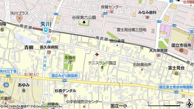 東京都国立市谷保7041周辺の地図