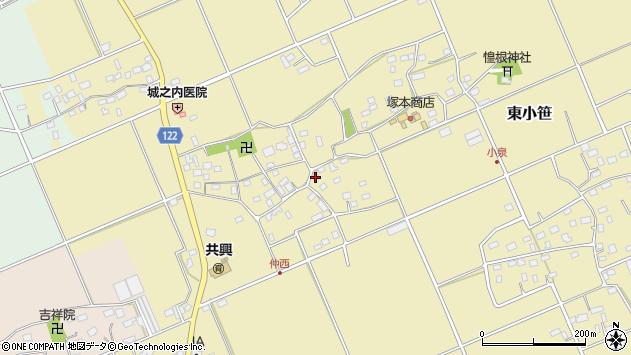 千葉県匝瑳市東小笹周辺の地図