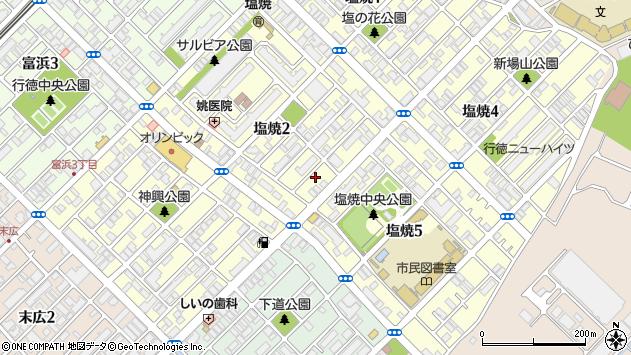 千葉県市川市塩焼2丁目周辺の地図