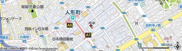 東京都中央区日本橋人形町2丁目周辺の地図