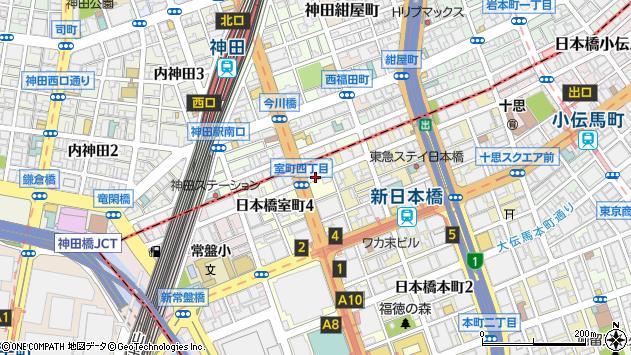 東京都中央区日本橋本町4丁目周辺の地図