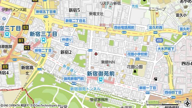 東京都新宿区新宿1丁目15-11周辺の地図