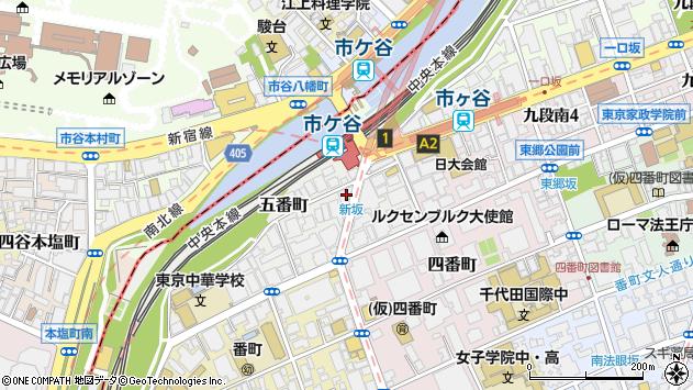 東京都千代田区五番町4-2周辺の地図