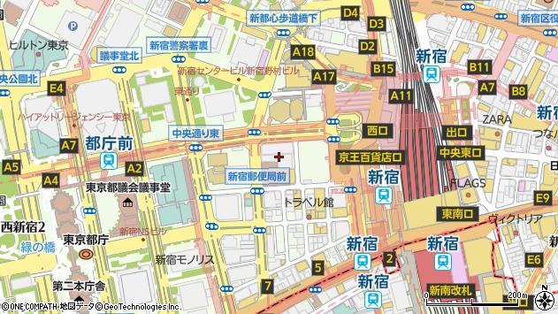 東京都新宿区西新宿1丁目8-3周辺の地図