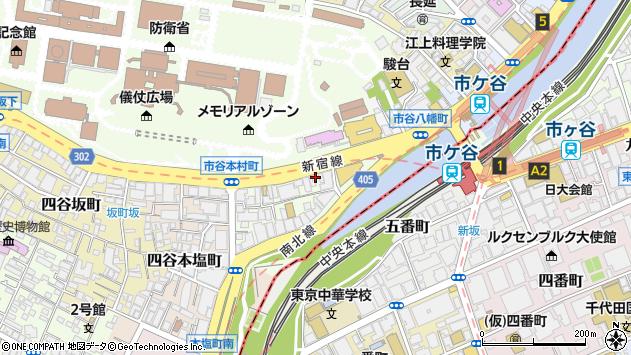 東京都新宿区市谷本村町3-27周辺の地図