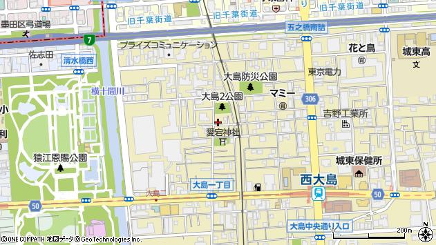 東京都江東区大島2丁目周辺の地図