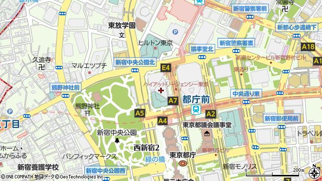 東京都新宿区西新宿2丁目7周辺の地図