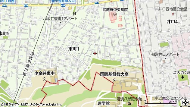 東京都小金井市東町1丁目18-6周辺の地図