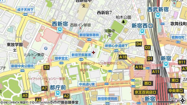 東京都新宿区西新宿1丁目26-2周辺の地図