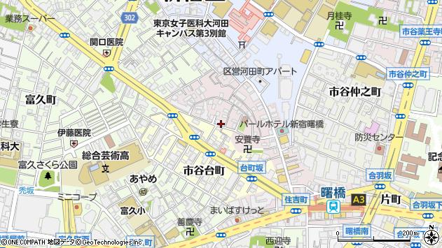 東京都新宿区住吉町14-1周辺の地図