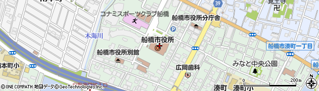 千葉県船橋市周辺の地図