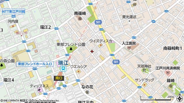 東京都江戸川区南篠崎町3丁目周辺の地図