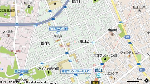 東京都江戸川区瑞江2丁目44周辺の地図