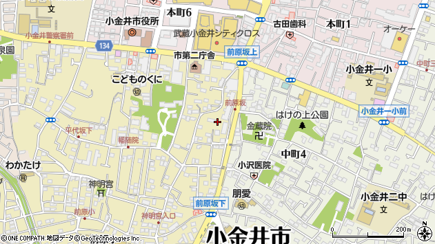 東京都小金井市前原町3丁目40周辺の地図