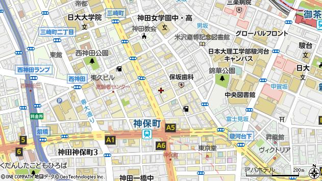 東京都千代田区神田神保町1丁目40周辺の地図