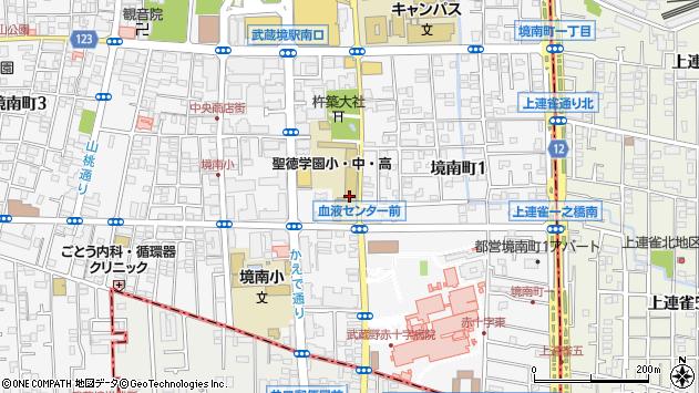 東京都武蔵野市境南町2丁目11-8周辺の地図