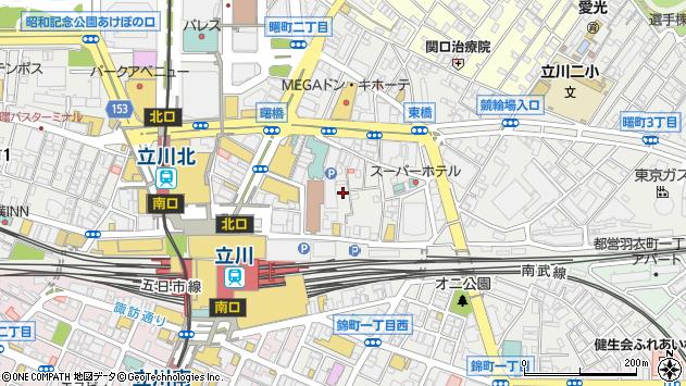 東京都立川市曙町周辺の地図