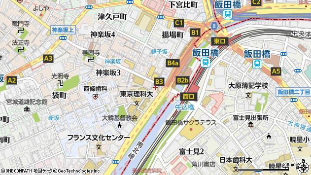 東京都新宿区神楽坂1丁目10周辺の地図