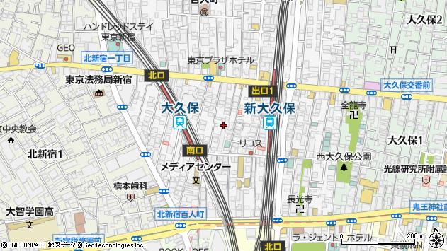 東京都新宿区百人町1丁目周辺の地図