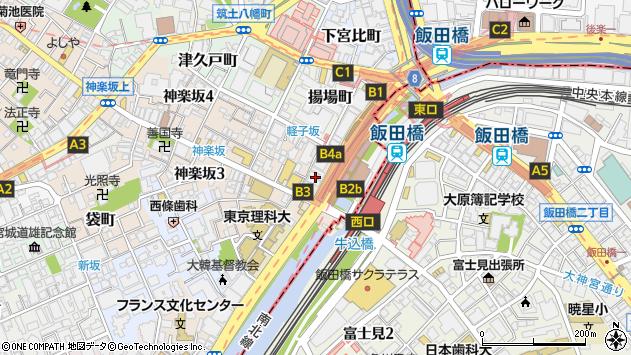 東京都新宿区神楽坂1丁目14周辺の地図