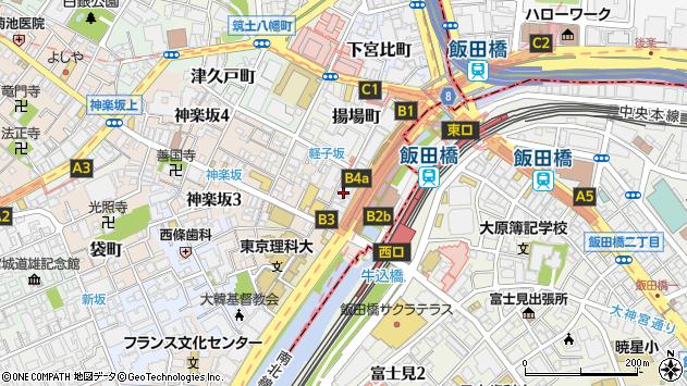 東京都新宿区神楽坂1丁目15周辺の地図