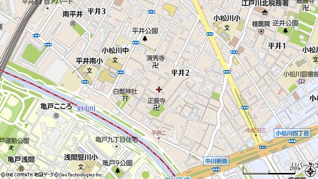 東京都江戸川区平井周辺の地図