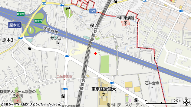 千葉県市川市本郷飛地 住所一覧から地図を検索