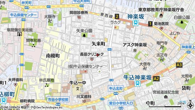 東京都新宿区矢来町2周辺の地図