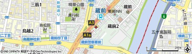 東京都台東区蔵前2丁目4-5周辺の地図