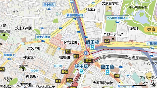 東京都新宿区下宮比町2-29周辺の地図