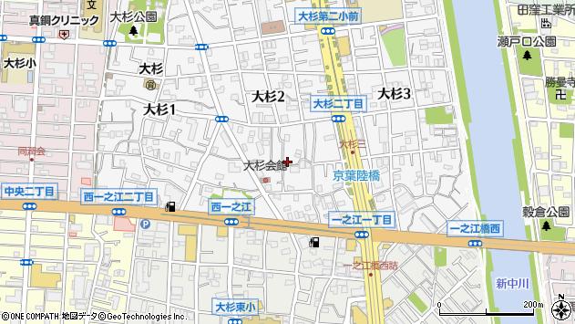 東京都江戸川区大杉2丁目周辺の地図