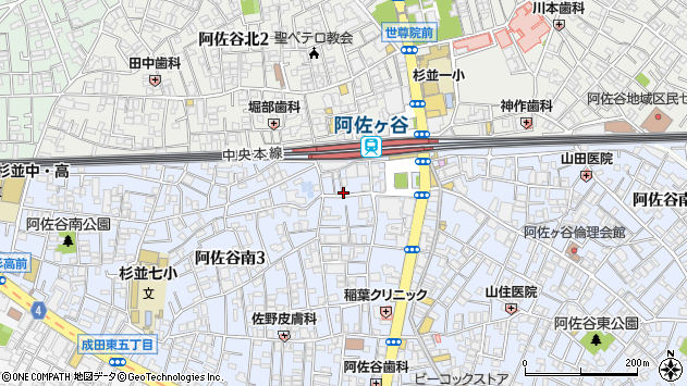 東京都杉並区阿佐谷南3丁目周辺の地図