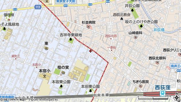 東京都武蔵野市吉祥寺東町4丁目11-7周辺の地図