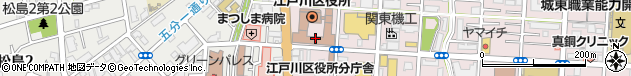 東京都江戸川区周辺の地図
