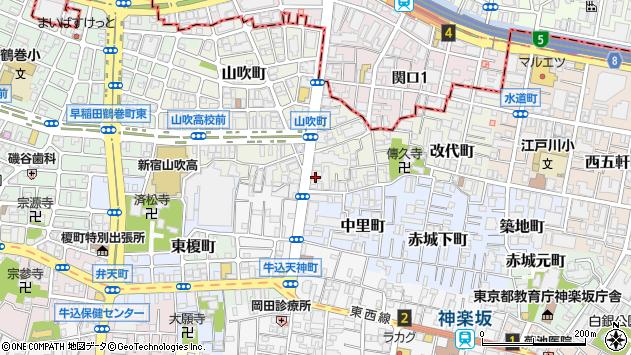 東京都新宿区山吹町4周辺の地図