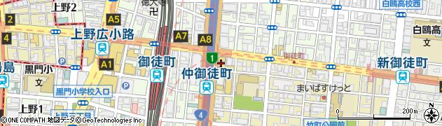 東京都台東区台東4丁目33-2周辺の地図