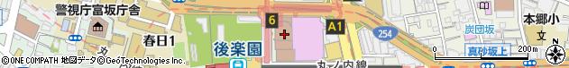 東京都文京区周辺の地図