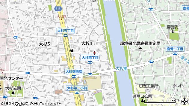 東京都江戸川区大杉4丁目周辺の地図