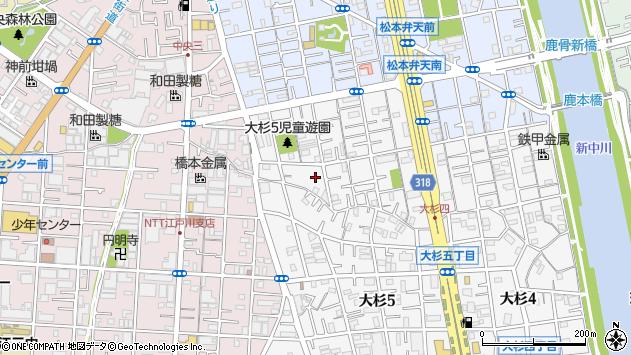 東京都江戸川区大杉5丁目周辺の地図