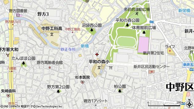 東京都中野区新井3丁目31-11周辺の地図