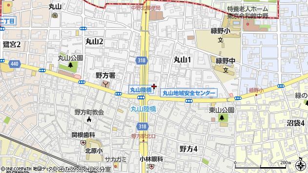 東京都中野区丸山1丁目10周辺の地図