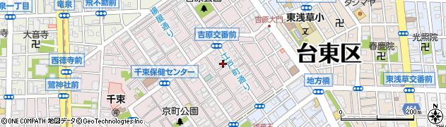 東京都台東区千束周辺の地図